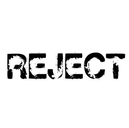 Reject stamp on white background . Label sticker Illustration