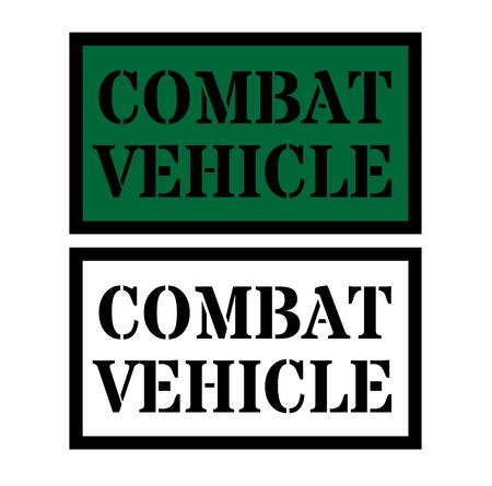 combat vehicle sign illustration Ilustrace