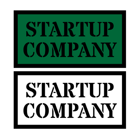 startup company sign Illustration