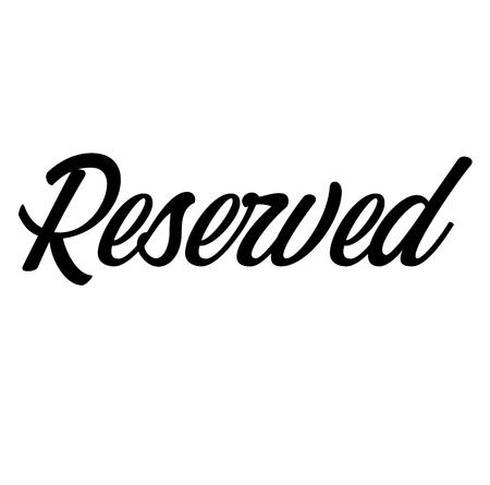 Reserved label illustration