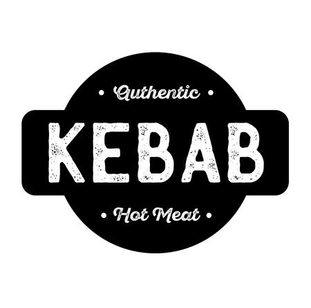 kebab label on white background . Label sticker