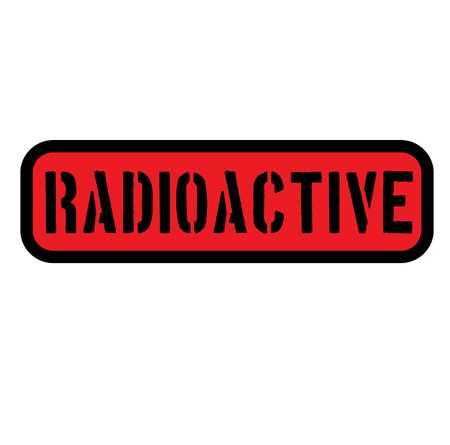 radioactive sign on white background . Label sticker Ilustração