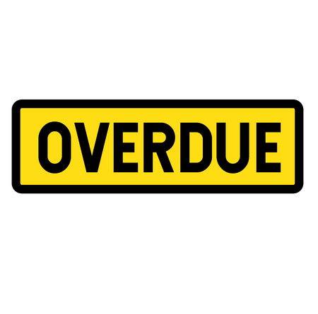 Overdue sign illustration