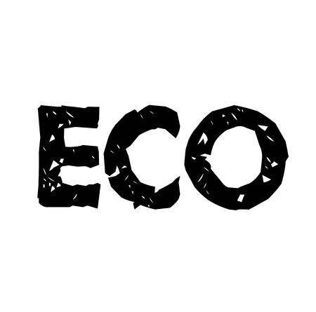 Eco stamp on white background . Label sticker Stock Illustratie