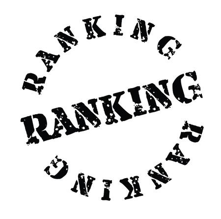 Ranking stamp on white background . Label sticker