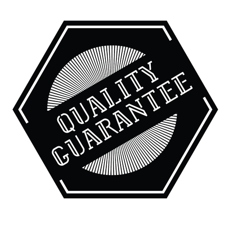Quality Guatantee stamp on white background . Label sticker Ilustrace