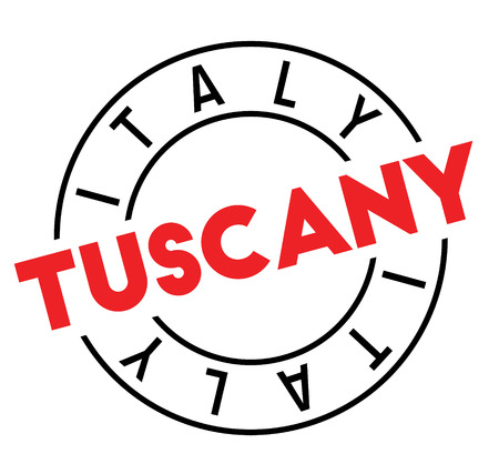 tuscany stamp on white background. Sign, label sticker
