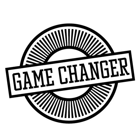 game changer stamp on white background . Label sticker