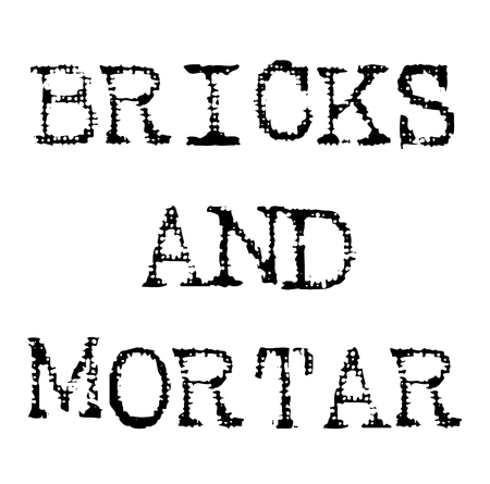 bricks and mortar black stamp 일러스트