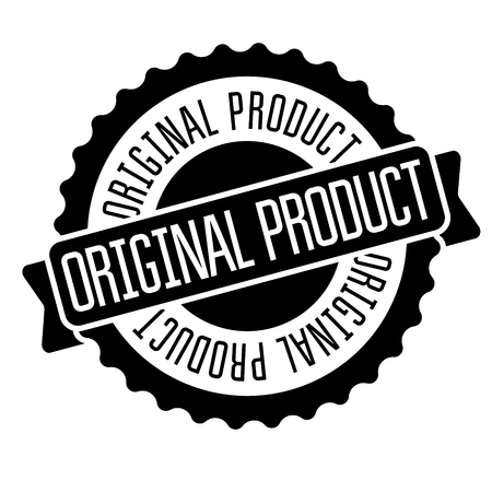 original product stamp on white