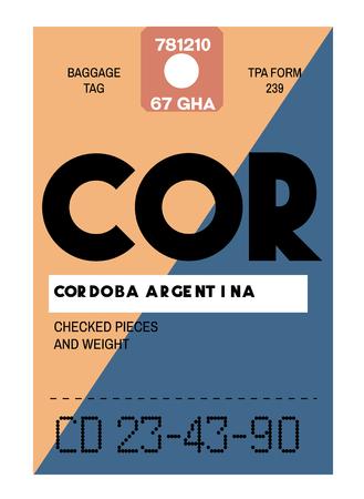 Cordoba airport luggage tag