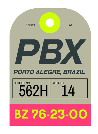 Porto Alegre realistically looking airport luggage tag