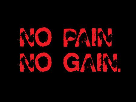 No Pain No Gain creative motivation quote design