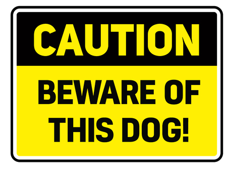 Beware of this dog Warning sign simple colours Vetores