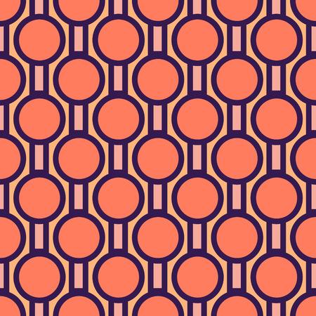 Abstract bold circular pattern. Geometric style Flat illustration Vecteurs
