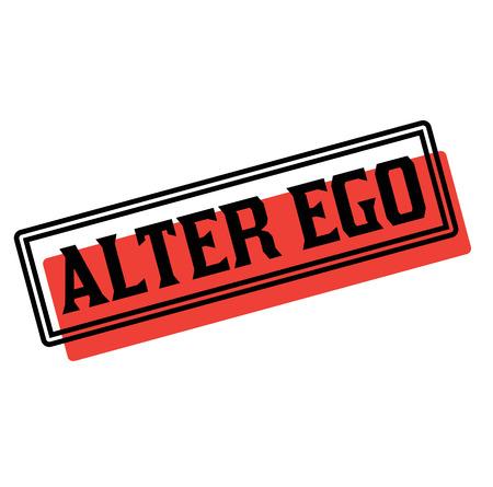alter ego advertising sticker, label, stamp on white Çizim