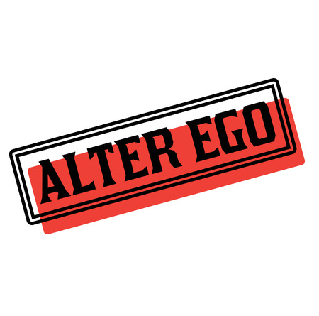 alter ego advertising sticker, label, stamp on white Illustration