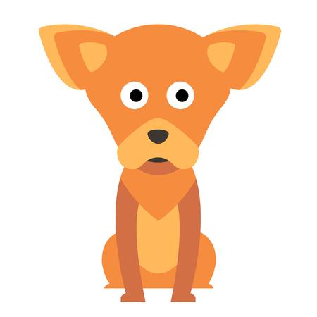 Chihuahua flat illustration Illustration