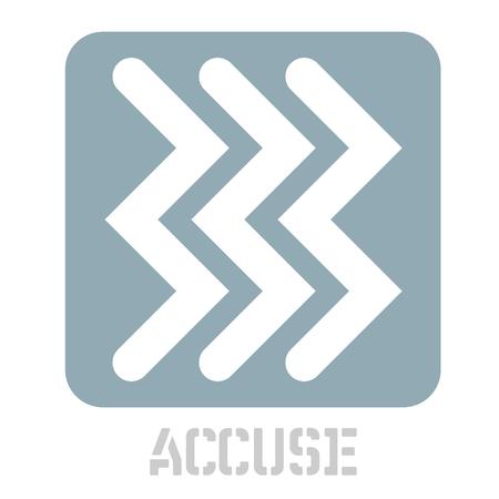 Accuse concept icon on white