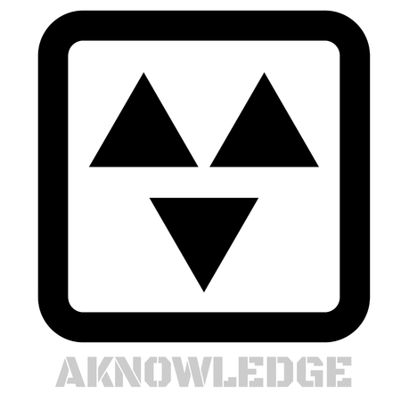 Aknowledge concept icon on white flat illustration. Illustration