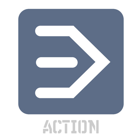 Action concept icon on white