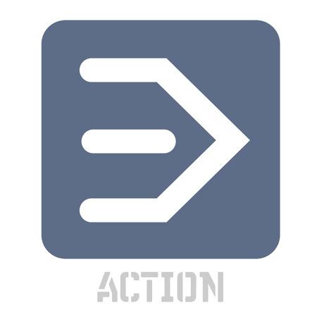 Action concept icon on white