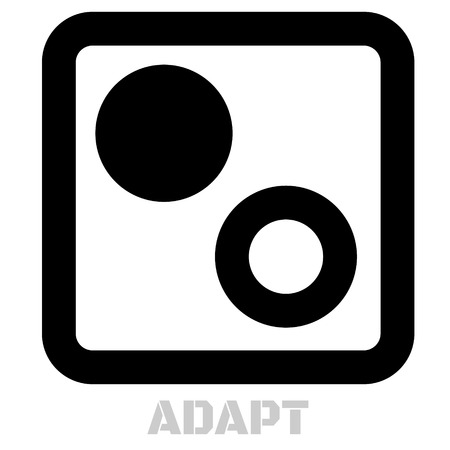 Adapt concept icon on white