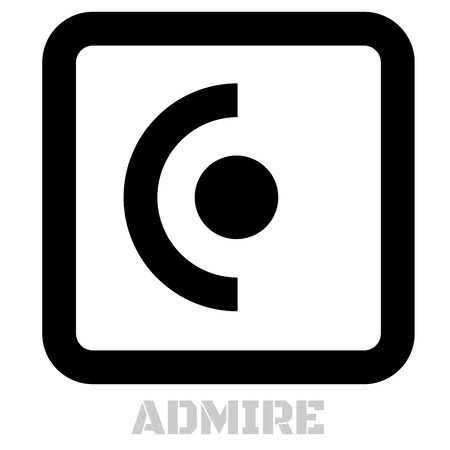 Admire concept icon on white