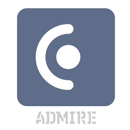 Admire concept icon on white flat illustration.