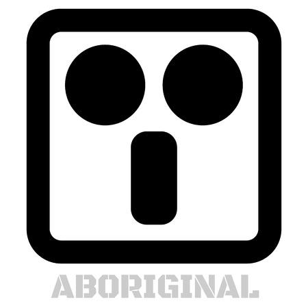 Aboriginal concept icon on white Illustration