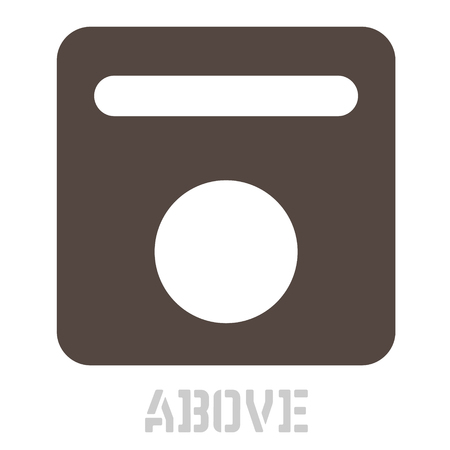 Above concept icon on white 向量圖像