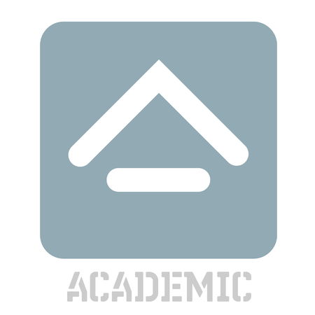 Academic concept icon on white flat illustration. Ilustração
