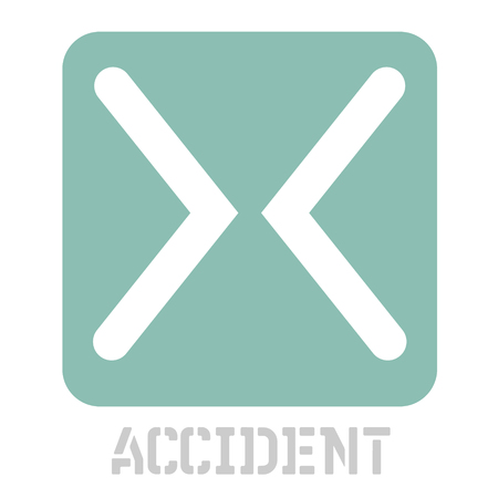 Accident concept icon on white Illustration