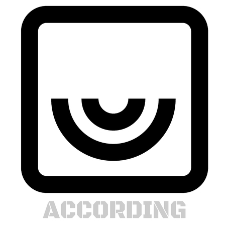 According concept icon on white flat illustration. Illustration