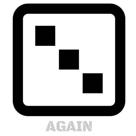 Again concept icon on white