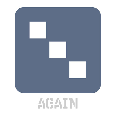 Again concept icon on white flat illustration.