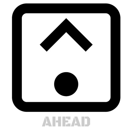Ahead concept icon on white flat illustration.