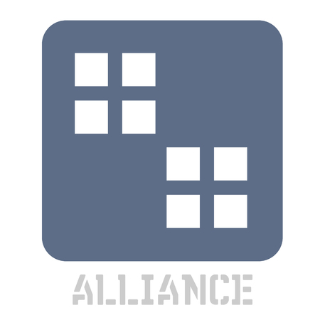 Alliance concept icon on white Illustration