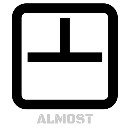 Almost concept icon on white