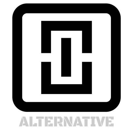 Alternative concept icon on white Çizim