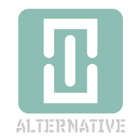 Alternative concept icon on white flat illustration.