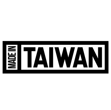 Made in Taiwan label on white Archivio Fotografico - 119005910