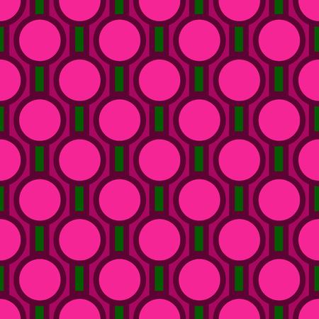 Abstract bold circular pattern. Geometric style. Flat illustration