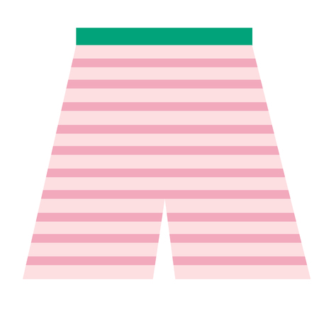 Swimming trunks flat illustration. Home, travel and lifestyle series.