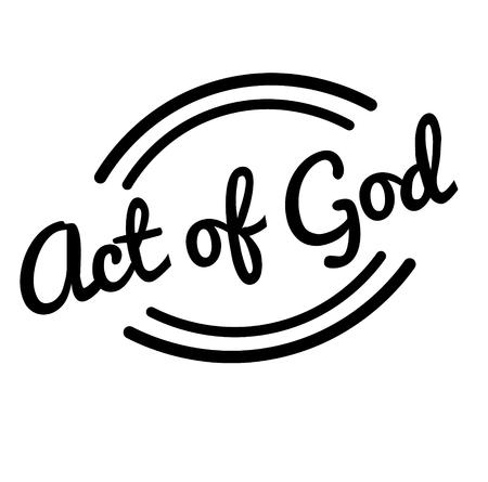 act of god black stamp, sticker, label, on white background