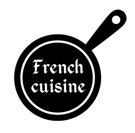 French cuisine stamp on white background. Sticker or label.