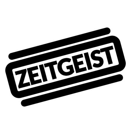 zeitgeist black stamp, sticker, label on white background