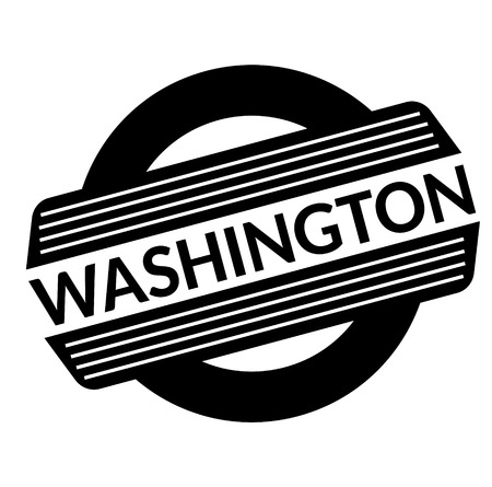 washington black stamp, sticker, label on white background