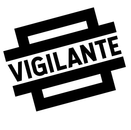vigilante black stamp Illustration
