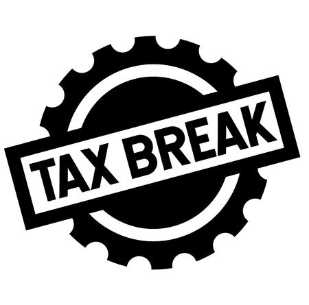 tax break black stamp, sticker, label, on white background